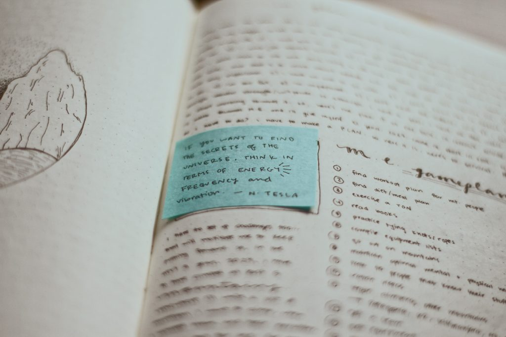 notebook journal about self improvement in order to make positive change